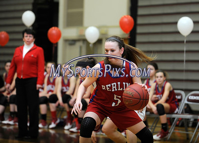 2/17/2016 Mike Orazzi | Staff Berlin's Angela Perrelli (5) Wednesday night at Central.