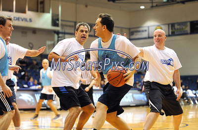 2/20/2016 Mike Orazzi | Staff NBC Connecticut's Brad Drazen during the the 7th Annual Men Make a Difference, Men Against Domestic Violence Celebrity Half-Time Basketball Game in Detrick Gymnasium at CCSU on Saturday.