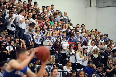 1/22/2016 Mike Orazzi | Staff Bristol Central fans during the Eastern vs Central boys basketball game.