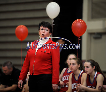 2/17/2016 Mike Orazzi | Staff Berlin High School girls basketball coach Sheila King Wednesday night at Central.