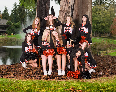 Blaine Football Cheerleaders, 2016