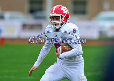 10/8/2016 Mike Orazzi   Staff Berlin's Mitch Mazlowski (6) during Saturday's football game with the RHAM Sachems in Hebron.
