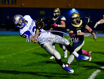 10/21/2016 Mike Orazzi | Staff  Bristol Eastern's Ariza Kolloverja (21) on his way to a TD against Newington Friday night.