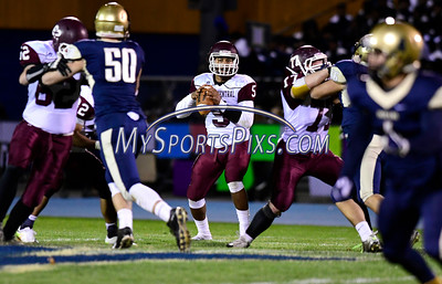 11/4/2016 Mike Orazzi | Staff Bristol Central's Isaiah Miller (5) Friday night in Newington.