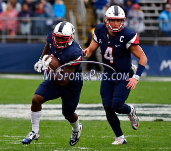 10/22/2016 Mike Orazzi | Staff UConn's Ron Johnson (3) and Bryant Shirreffs (4) Saturday against UCF.