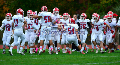 10/8/2016 Mike Orazzi | Staff Berlin during Saturday's football game with the  RHAM Sachems in Hebron.