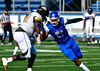 9/17/2016 Mike Orazzi | Staff<br /> CCSU's Asia Bolling (91) and Bowie State's Victor Tamba Jr. (78) in New Britain Saturday.