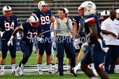 9/1/2016 Mike Orazzi | Staff UConn football coach Bob Diaco during the season opener with the Maine Black Bears at Rentschler Field in East Hartford Thursday night.