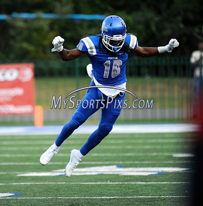 9/2/2016 Mike Orazzi | Staff  CCSU's Andre Morris (10)  in New Britain Friday night.