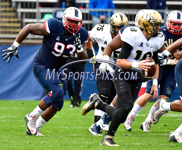 10/22/2016 Mike Orazzi | Staff UConn's Folorunso Fatukasi (3) Saturday agains UCF in East Hartford.