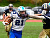 10/22/2016 Mike Orazzi | Staff<br /> Plainville's Jake Theriault (21) and RHAM's Sam Macmillan (11) in Hebron Saturday.