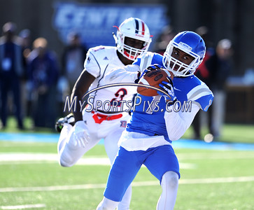 11/19/2016 Mike Orazzi | Staff CCSU's Joey Fields (1) hauls in a TD pass Saturday in New Britain.