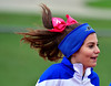 10/22/2016 Mike Orazzi | Staff<br /> A Plainville High School cheerleader during Saturday's football game RHAM in Hebron.