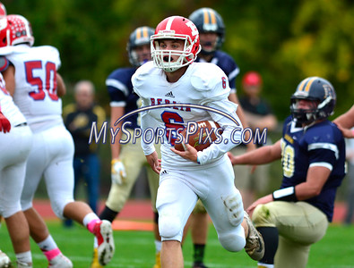 10/8/2016 Mike Orazzi | Staff Berlin's Mitch Mazlowski (6) during Saturday's football game with the RHAM Sachems in Hebron.