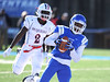 11/19/2016 Mike Orazzi | Staff<br /> CCSU's Joey Fields (1) hauls in a TD pass Saturday in New Britain.