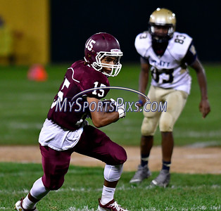 9/23/2016 Mike Orazzi | Staff Bristol Central's Justus Fitzpatrick (15) at Muzzy Field Friday night.