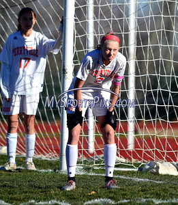 11/11/2016 Mike Orazzi | Staff Terryville's Jenna Covello (2) during the Class S Quarterfinal girls soccer with Bolton Friday.