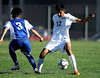 10/6/2016 Mike Orazzi | Staff<br /> Bristol Central's Jonathan Cabrera (12) and Rocky Hill's Nam Bui (3) at BC Thursday.