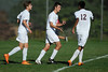 10/6/2016 Mike Orazzi | Staff<br /> Bristol Central's Mike Lemke (13) after scoring a goal against Rocky Hill at BC Thursday.