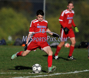 10/25/2016 Mike Orazzi | Staff Berlin's Noah Silverman (10) at Bristol Central High School Tuesday afternoon.