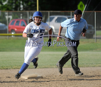 6/2/2016 Mike Orazzi | Staff Southington High School's Delaney Picard (9) with a home run during the Class LL Quarterfinals of the CIAC 2016 State Softball Tournament in Southington Thursday.