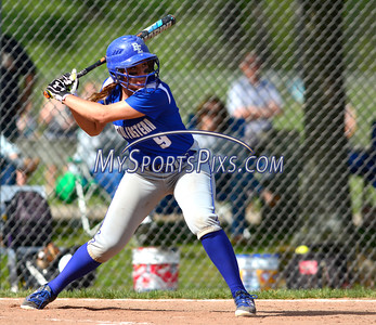 5/18/2016 Mike Orazzi | Staff Bristol Eastern's Charline Plasczynski (9) against Wethersfield Wednesday.