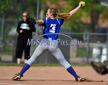 5/18/2016 Mike Orazzi   Staff Bristol Eastern's Ashley Redman (3) pitching against Wethersfield Wednesday.