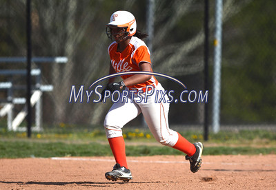 4/21/2016 Mike Orazzi | Staff Terryville High School's Amihya Brock (16) on Thursday.
