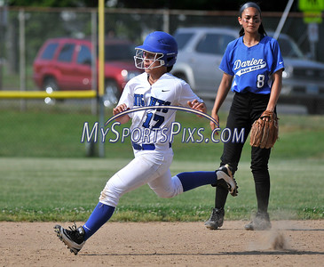 6/2/2016 Mike Orazzi | Staff Southington High School's Victoria Aldieri (17) during the Class LL Quarterfinals of the CIAC 2016 State Softball Tournament in Southington Thursday.