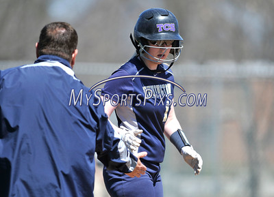 4/15/2016 Mike Orazzi   Staff Newington's Kinsey Delbuono (13) on Friday at Eastern.