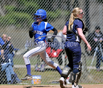 4/15/2016 Mike Orazzi   Staff Bristol Eastern's Jordan Fitzsimons (10) after her second of two home runs on Friday at Eastern.