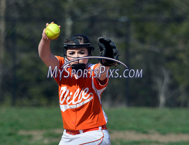 4/21/2016 Mike Orazzi   Staff Terryville High School's Alycia Calabrese (15) on Thursday.