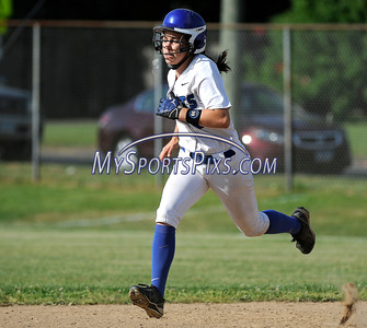 6/2/2016 Mike Orazzi | Staff Southington High School's Megan Mahon (6) during the Class LL Quarterfinals of the CIAC 2016 State Softball Tournament in Southington Thursday.