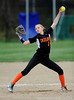 4/28/2016 Mike Orazzi | Staff<br /> Watertown High School's Kaley Langlois (1) pitching at St Paul Catholic High School Thursday in Bristol.