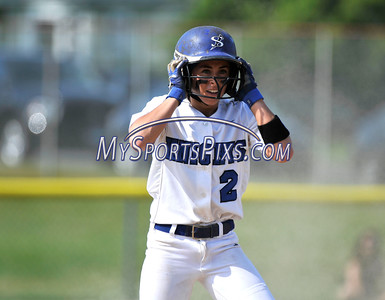 6/2/2016 Mike Orazzi | Staff Southington High School's Michelle Woodruff (2) during the Class LL Quarterfinals of the CIAC 2016 State Softball Tournament in Southington Thursday.