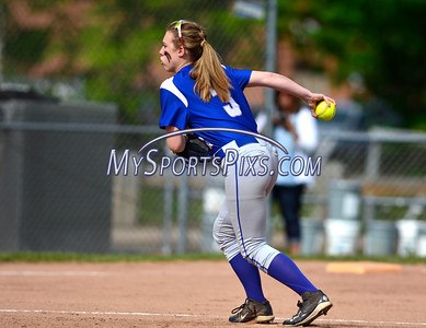 5/18/2016 Mike Orazzi | Staff Bristol Eastern's Ashley Redman (3) pitching against Wethersfield Wednesday.