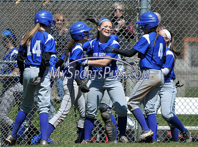 4/15/2016 Mike Orazzi   Staff Bristol Eastern's Jordan Fitzsimons (10) after her first of two home runs on Friday at Eastern.