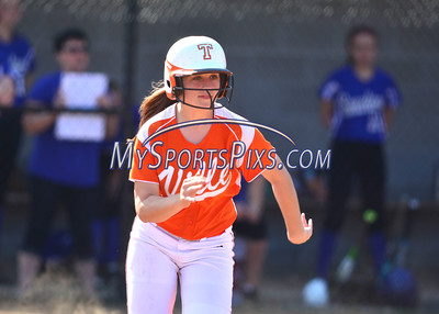 4/21/2016 Mike Orazzi | Staff Terryville High School's Lexie Gonska (17) on her way to first base Thursday.