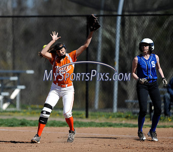 4/27/2016 Mike Orazzi | Staff Terryville High School's Martina Trovato (9)against Shepaug Wednesday afternoon.