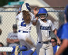 6/2/2016 Mike Orazzi | Staff<br /> Southington High School's Michelle Woodruff (2) and Delaney Picard (9) during the Class LL Quarterfinals of the CIAC 2016 State Softball Tournament in Southington Thursday.