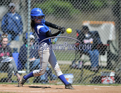 4/15/2016 Mike Orazzi   Staff Bristol Eastern's Jordan Fitzsimons (10) hit her first of two home runs on Friday at Eastern.