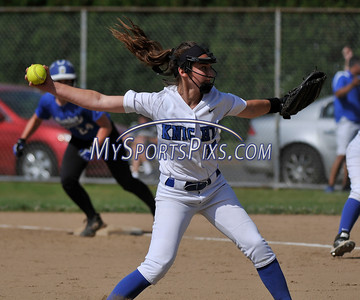 6/2/2016 Mike Orazzi | Staff Southington High School's Brenna Sarantides (7) during the Class LL Quarterfinals of the CIAC 2016 State Softball Tournament in Southington Thursday.