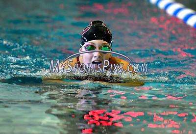 9/23/2016 Mike Orazzi | Staff Bristol Central's Rachel Wolf during a swim meet with Farmington Friday.