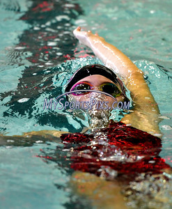 9/23/2016 Mike Orazzi | Staff Bristol Central's Meghan Curtis during a swim meet with Farmington Friday.
