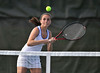 5/20/2016 Mike Orazzi | Staff<br /> Bristol Eastern's Morgan Dauphinee during Central vs Eastern tennis match Friday.