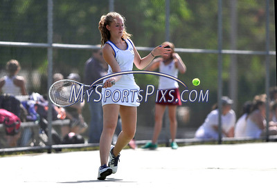 5/20/2016 Mike Orazzi | Staff Bristol Eastern's Gabby Reymont during Central vs Eastern tennis match Friday.