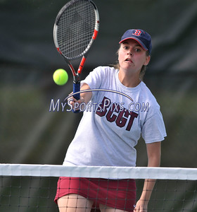 5/20/2016 Mike Orazzi | Staff Bristol Central's Jen Varley during Central vs Eastern tennis match Friday.