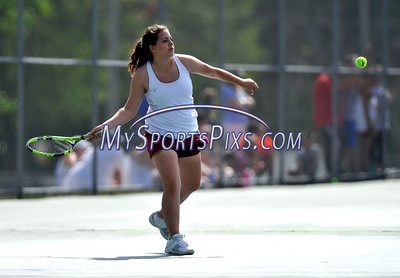 5/20/2016 Mike Orazzi | Staff Bristol Central's Sara Warkoski during Central vs Eastern tennis match Friday.