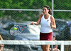 5/20/2016 Mike Orazzi | Staff<br /> Bristol Central's Jessica McAllister during Central vs Eastern tennis match Friday.