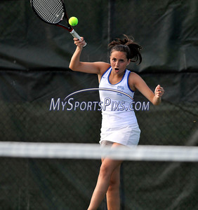 5/20/2016 Mike Orazzi | Staff Bristol Eastern's Morgan Dauphinee during Central vs Eastern tennis match Friday.